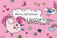 merry christmas unicorn clip art 148505 illustrations design bundles