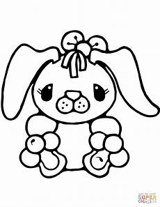tiny bunny rabbit coloring page free printable coloring