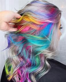bright hair colors on pinterest bright hair rainbow hair and pastel and hidden rainbow hair color ideas for 2018 fashionre