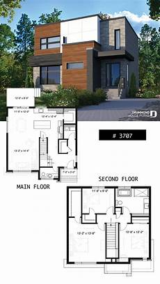 two storey modern cubic house plan with pantry laundry room kitchen island 3 bedrooms 1 5