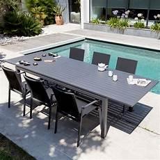 table aluminium jardin table de jardin trieste aluminium l130 180 l82 cm gris 138