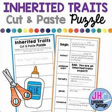inherited traits cut and paste puzzle by jh lesson design tpt