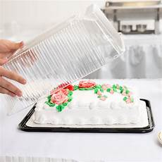 d w fine pack g85 1 1 4 size 2 3 layer sheet cake display container with clear dome lid 10 pack