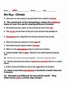 bill nye climate worksheet bill nye climate video guide sheet by jjms teachers pay teachers