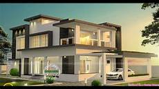 Modern Flat Roof Two Storey Home