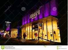 late night shopping stuttgart armani outlet editorial photography image of boss prada