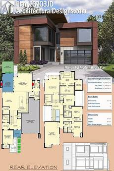 plan 23703jd narrow lot modern house plan with images