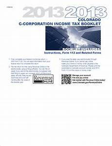 form 112 booklet fillable c corporation income tax return