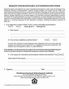 reasonable accommodation request form fillable online request for reasonable accommodation form hutchinson housing fax email