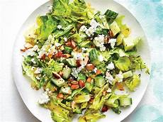crunchy cucumber feta and almond salad recipe cooking