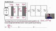 18 10 circuit basics voltage drops in parallel