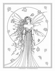 fairies coloring pages 16604 free coloring page quot fall quot by molly harrison molly harrison free coloring