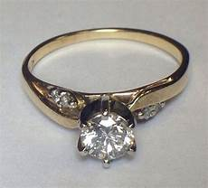 high quality solitare 1 2 carat diamond engagement ring 14k yellow gold sz 7 25 ebay