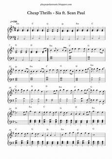 free piano sheet music cheap thrills sia ft paul pdf come come turn the radio