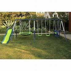 kid swing set swing set playground metal swingset backyard playset