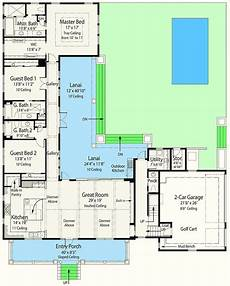 l shaped house plans with courtyard plan 33161zr net zero ready house plan with l shaped