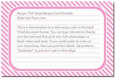 recipe card template 4x6 free 4 215 6 recipe card template bake sale flyers free