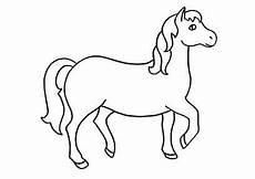 Malvorlage Pferd Einfach Pferd Ausmalen Ausmalbilder