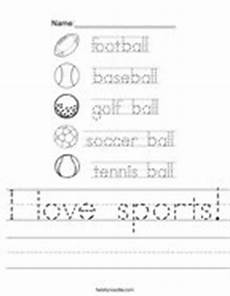 sports handwriting worksheets 15804 color the balls worksheet twisty noodle
