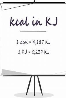 kalorien umrechnen kilojoule kj in kilokalorien kcal