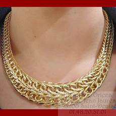 collier russe or 18 carats bijouterie orlena