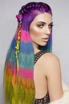 Color Blocking Hair the color blocked hair dye trend takes rainbow hair to the