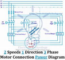 2 phase electrical wiring diagram 2 speeds 1 direction 3 phase motor power and diagrams electrical circuit diagram