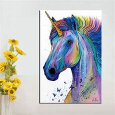 any color large unicorn wall qkart nordic poster canvas painting colorful unicorn wall