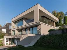 Hausbau Am Hang - einfamilienhaus hanghaus modern edelstahlpool