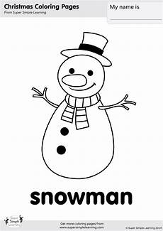 snowman coloring page simple