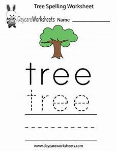 trees worksheets kindergarten free printable tree spelling worksheet for preschool