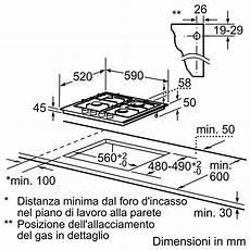 misure piano cottura 4 fuochi ppp 616b11e bosch piano cottura da 60 cm 4 fuochi a gas in