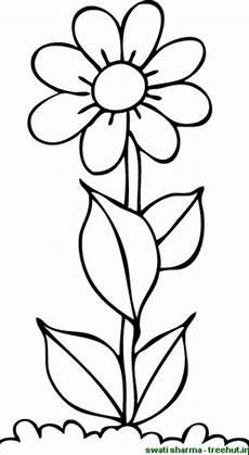 Malvorlage Blume Einfach Flower Coloring Pictures