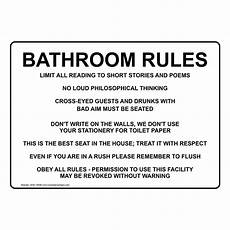 Bathroom Signs For The Office bathroom sign nhe 15938 restroom etiquette