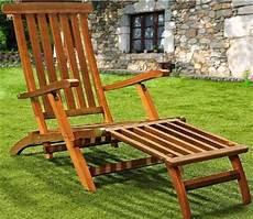 chaise longue jardin chaise longue de jardin bois