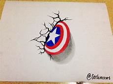 3d drawing captain america shield steemit