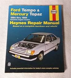 online auto repair manual 1984 mercury topaz engine control ford tempo mercury topaz 1984 1994 haynes repair manual 36078 book guide 1563921286 ebay