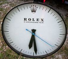 70 s rolex dealer s showroom wall clock second h