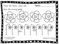 tracing activity lines in nature pre writing worksheet bundle by joliedesign