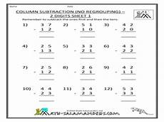 subtraction with and without regrouping worksheets for grade 3 10371 column subtraction no regrouping 2 digits sheet 1 2nd 3rd grade worksheet lesson planet