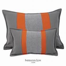 coussin orange et marron coussin rectangulaire de luxe 233 gris et orange 2