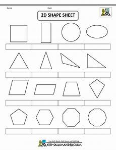 2d shapes worksheets to print printable shapes 2d and 3d