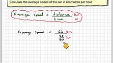 Km To H by Finding The Average Speed Of A Car In Km Per Hour