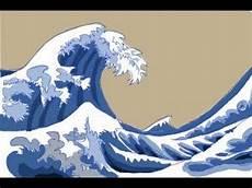 Japanisches Bild Welle - how to draw japanese waves