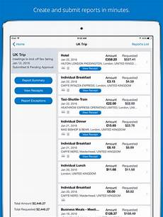 concur travel receipts expense reports apprecs
