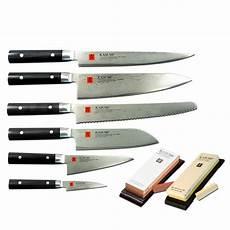 japanische messer gefalteter stahl kasumi messerset 8 teilig k sumikama damastmesser