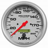 4490 Auto Meter Gauges  Ultra Lite Series In Dash