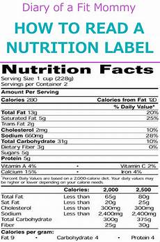 how to read a nutrition label diary of a fit mommy