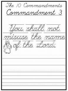 cursive writing worksheets for grade 2 22809 the 10 commandments cursive writing worksheets 2nd 5th grade bible studies