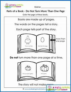 worksheets by subject concepts of print parts of a book vocabulary cards books